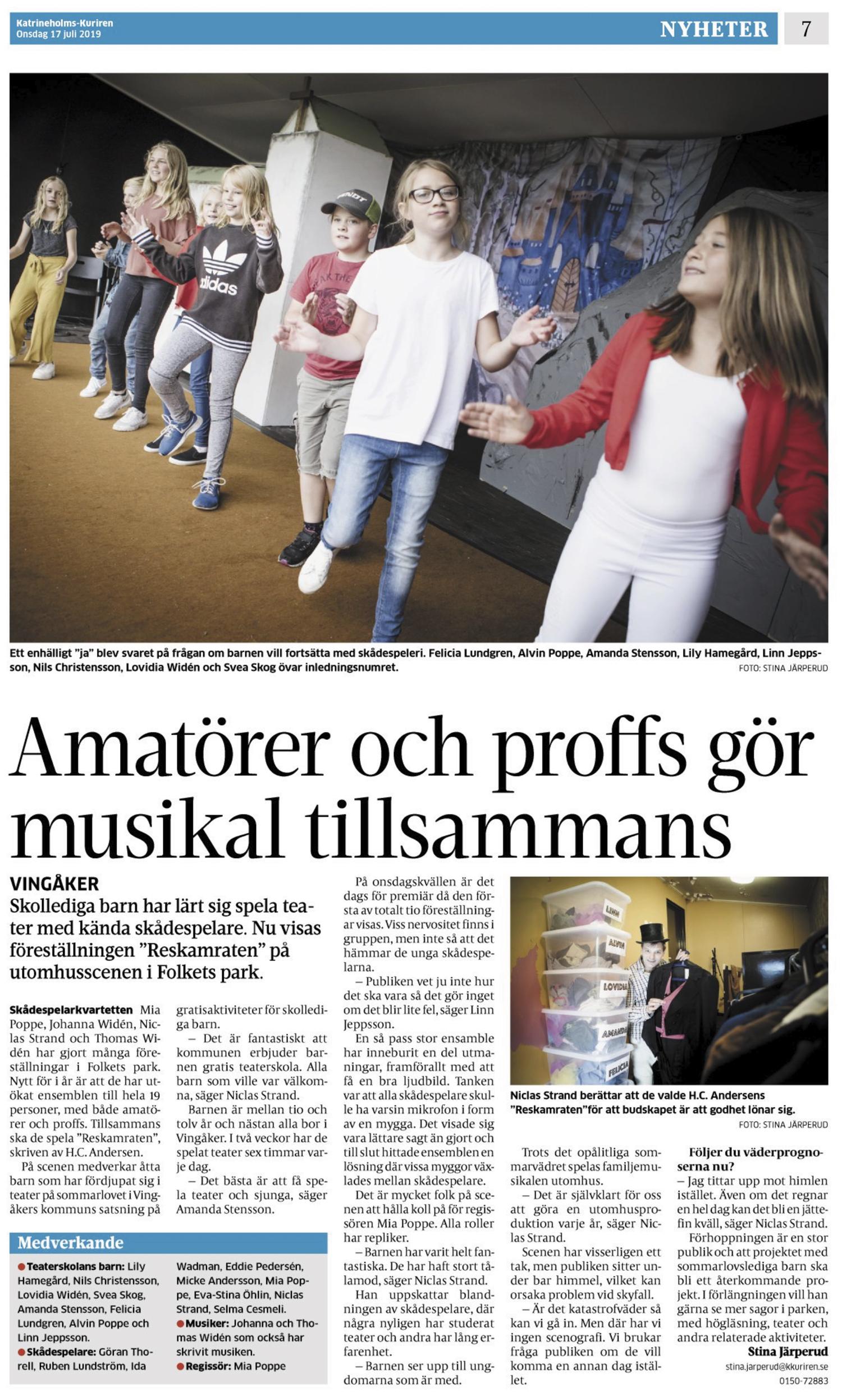 Amatörer och proffs gör musikal tillsammans